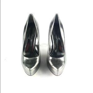 BCBGeneration Women's Silver Pointy Toe Heels